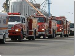 Goose fest parade fire trucks 2009