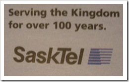 serving the kingdom Sasktel dec 2009