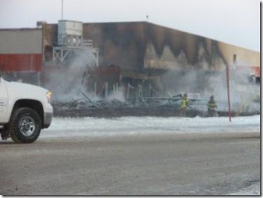 West Central Events Centre fire - Jan 8, 2010