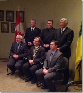 Kindersley Town Council swearing in - Nov 14, 2012